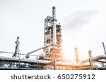 close up industrial view at oil ... | Shutterstock . vector #650275912