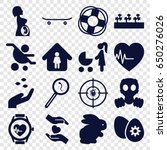 life icons set. set of 16 life... | Shutterstock .eps vector #650276026