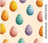 eggs easter background | Shutterstock .eps vector #650276332