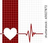 heart monitor | Shutterstock .eps vector #65027872
