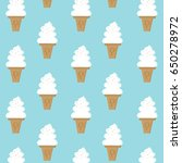ice cream soft serve vanilla... | Shutterstock .eps vector #650278972