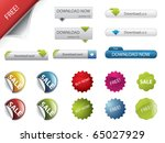 web design buttons and badges