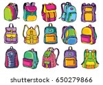 back to school. color hand... | Shutterstock .eps vector #650279866