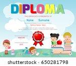 diploma template for kids ... | Shutterstock .eps vector #650281798