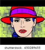 beautiful stylish young woman   ... | Shutterstock .eps vector #650289655