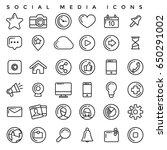 social media icons set | Shutterstock .eps vector #650291002