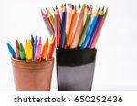 multicolored pencils and