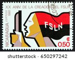 nicaragua   circa 1981  a stamp ... | Shutterstock . vector #650297242