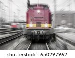 train speeding in color | Shutterstock . vector #650297962