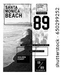 photo print surf santa monica... | Shutterstock . vector #650299252