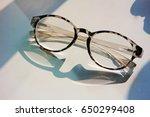 glasses on the table  | Shutterstock . vector #650299408