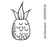 pineapple fruit nature | Shutterstock .eps vector #650299618