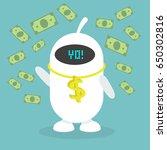 wealth conceptual illustration. ... | Shutterstock .eps vector #650302816