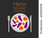 pepper  aubergine  abstract... | Shutterstock .eps vector #650306248