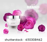 cosmetics vector illustration | Shutterstock .eps vector #650308462