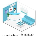 isometric flat 3d isolated... | Shutterstock .eps vector #650308582