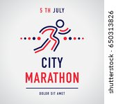 cool concept for city marathon... | Shutterstock .eps vector #650313826