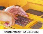 press the money the password.... | Shutterstock . vector #650313982