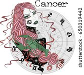 zodiac signs cancer    vector... | Shutterstock .eps vector #650319442