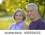 senior couple resting outdoors   Shutterstock . vector #650324152