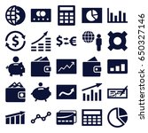 economy icons set. set of 25... | Shutterstock .eps vector #650327146