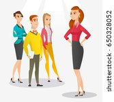 angry caucasian business woman... | Shutterstock .eps vector #650328052