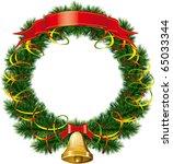 vector christmas bells with... | Shutterstock .eps vector #65033344