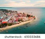 zanzibar from above | Shutterstock . vector #650333686