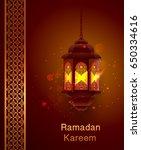 ramadan kareem islamic lamp... | Shutterstock .eps vector #650334616