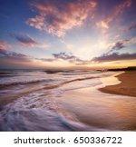 seascape during sundown....   Shutterstock . vector #650336722