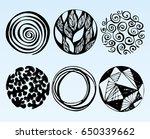 vector set of hand drawn... | Shutterstock .eps vector #650339662