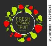 strawberry  pear  cherry ... | Shutterstock .eps vector #650345368