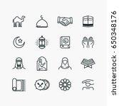 Islamic Line Art Icons Set....