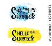 summer calligraphic design... | Shutterstock .eps vector #650348986