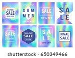 sale banners template set for... | Shutterstock .eps vector #650349466