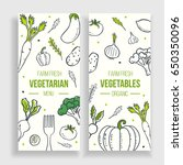vegetarian menu template. farm... | Shutterstock .eps vector #650350096