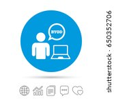 byod sign icon. bring your own... | Shutterstock .eps vector #650352706