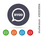 byod sign icon. bring your own... | Shutterstock .eps vector #650353006