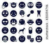 smile icons set. set of 25... | Shutterstock .eps vector #650354746