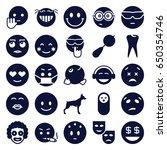 smile icons set. set of 25... | Shutterstock .eps vector #650354746