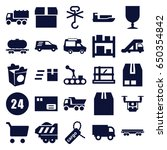 delivery icons set. set of 25... | Shutterstock .eps vector #650354842