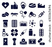 Treatment Icons Set. Set Of 25...