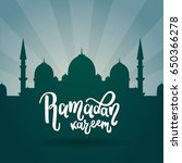 ramadan kareem background ...   Shutterstock .eps vector #650366278