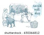 World Milk Day Lettering. Hand...