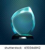 shiny glassware 3d award or... | Shutterstock .eps vector #650366842
