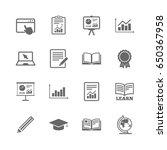 set of statistics  education...   Shutterstock .eps vector #650367958