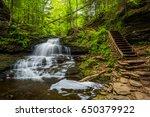 onondaga falls  at ricketts... | Shutterstock . vector #650379922