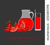 tomato fresh juice  vegetables  ... | Shutterstock .eps vector #650385598