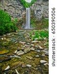 taughannock falls vertical | Shutterstock . vector #650390506
