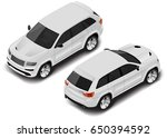 vector isometric car icon.... | Shutterstock .eps vector #650394592